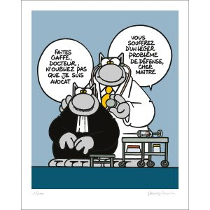 sérigraphie Philippe Geluck le chat avocat docteur