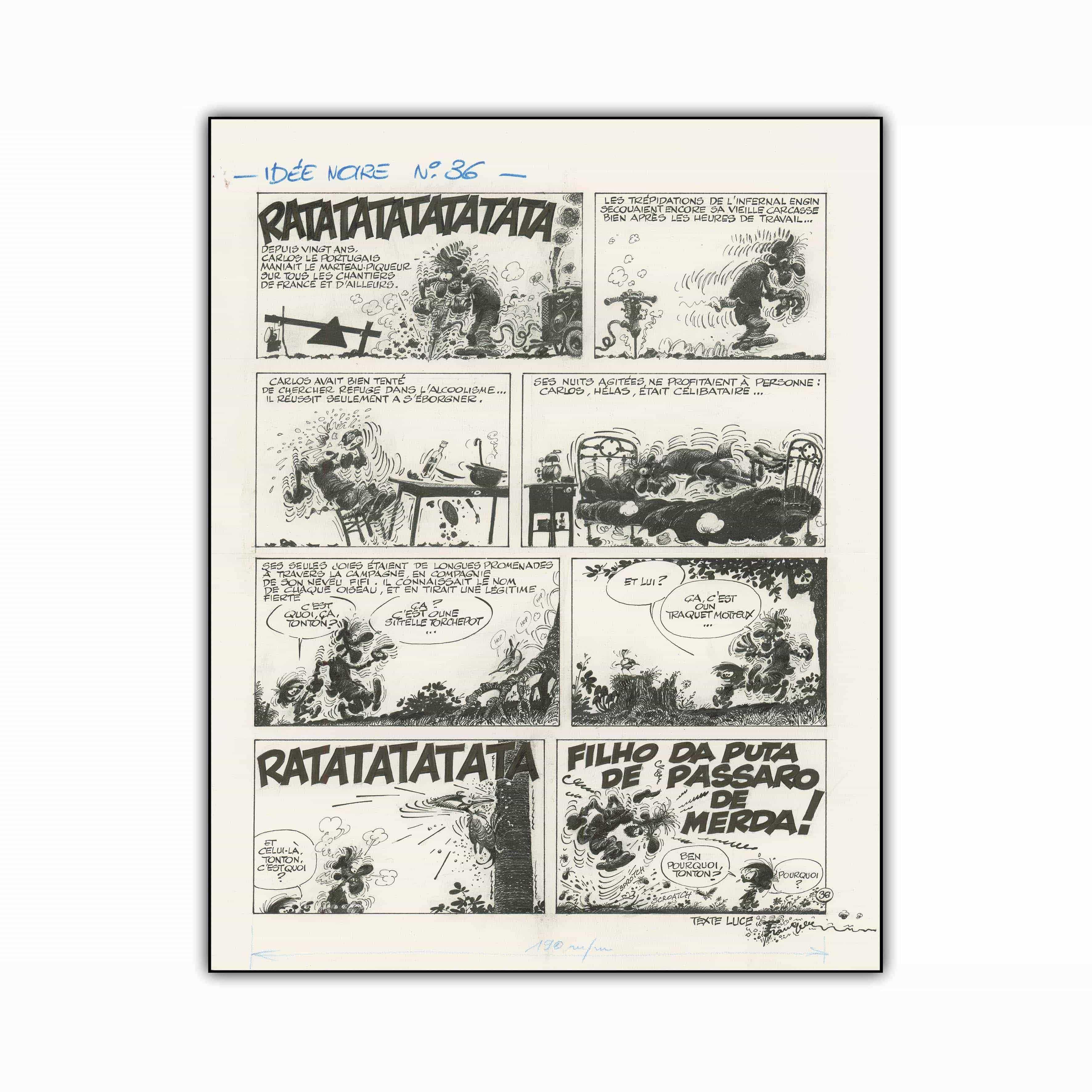 LprEditions | Planche 36 Les Idées Noires (55×70 cm) - Tirage d'art à 8 ex.